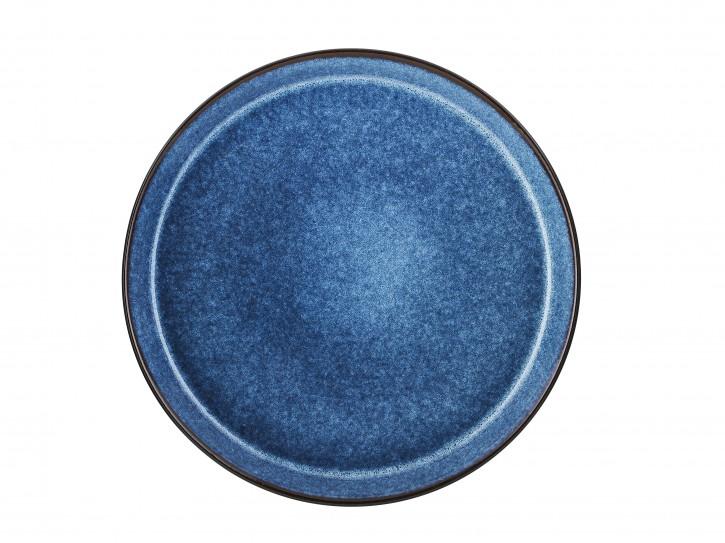 Speiseteller schwarz/blau 27 cm