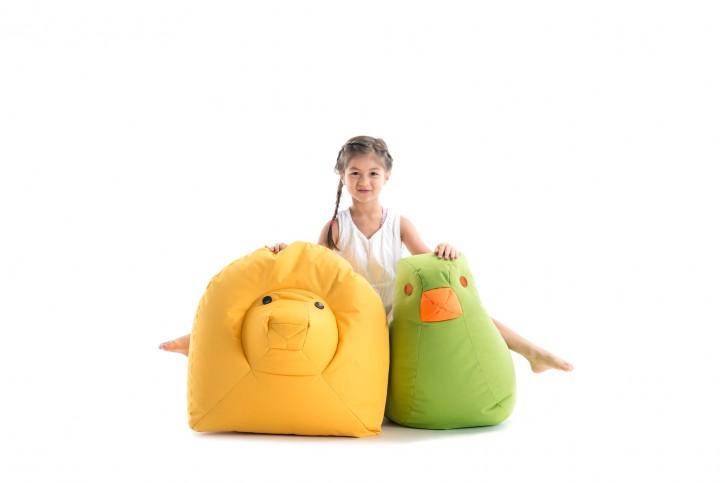 Löwe Nora - gelb Sitzsacktiere