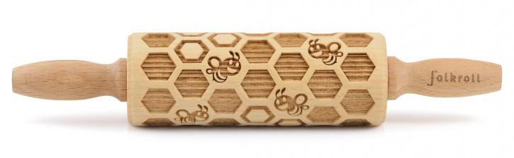 Motivteigrolle Bienenwaben